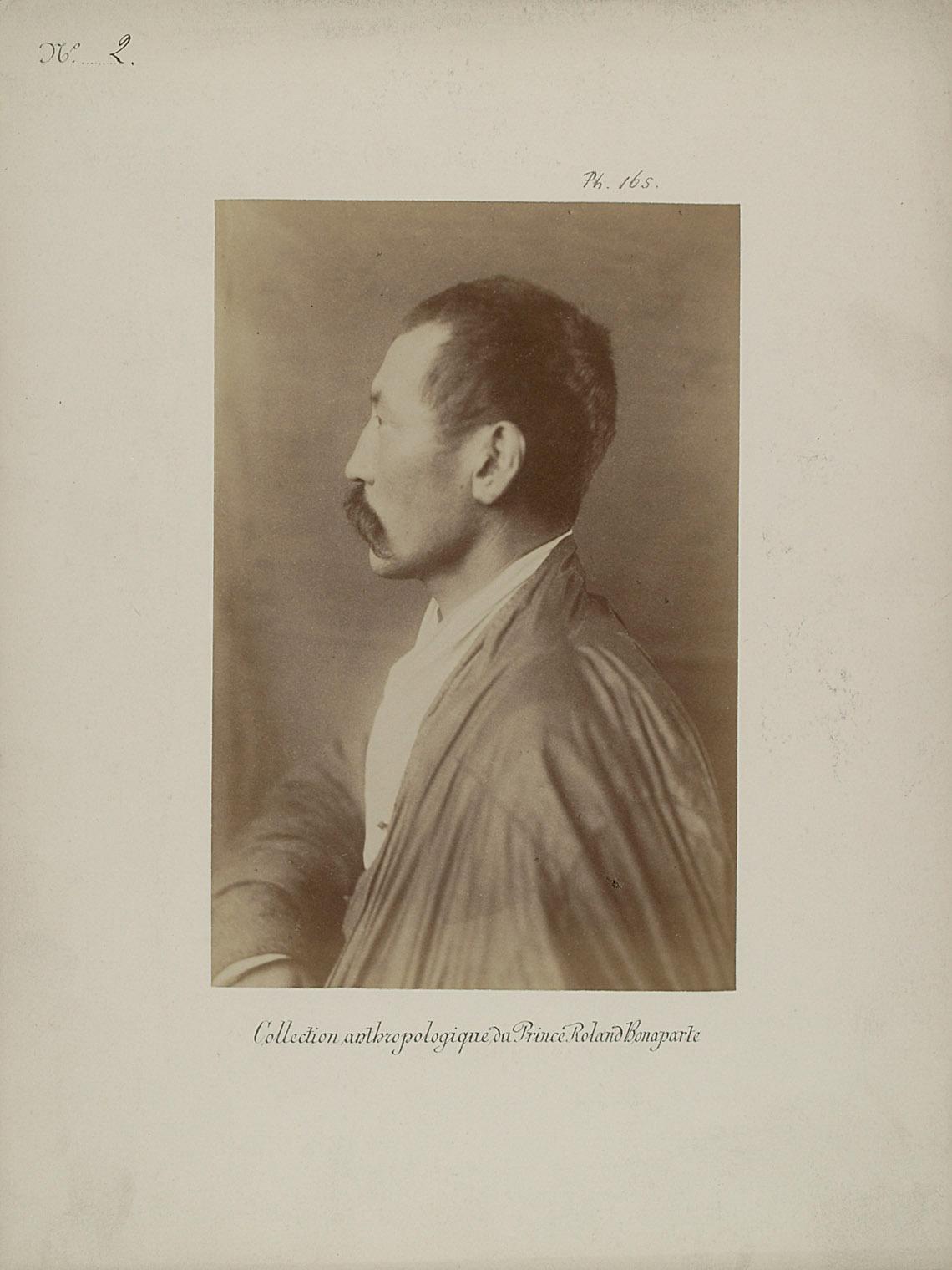 Eurupschild, Kalmükischer Priester. Profilansicht von Prinz Roland Napoléon Bonaparte