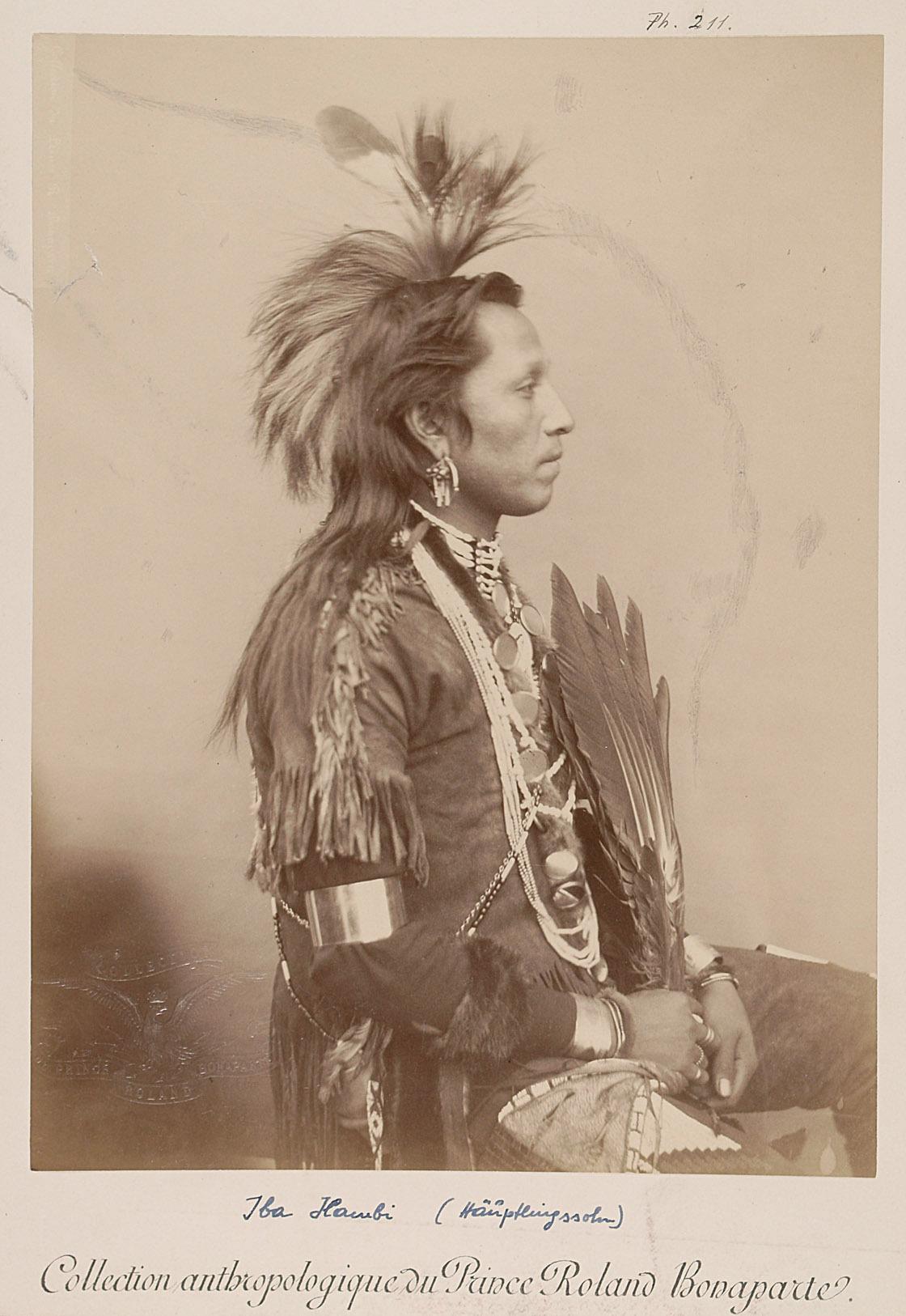 Homme connu - Iba Hambi, Häuptlingssohn, Profilansicht von Prinz Roland Napoléon Bonaparte