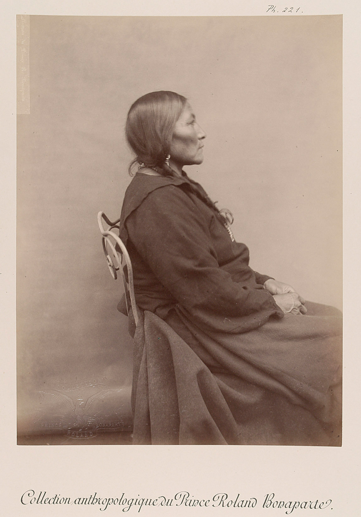 Cook - Nin-daoui, ältere Frau mit Kind, Profilansicht von Prinz Roland Napoléon Bonaparte