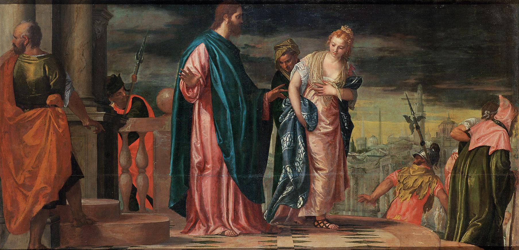 Christus und die Ehebrecherin von Paolo Caliari, gen. Veronese