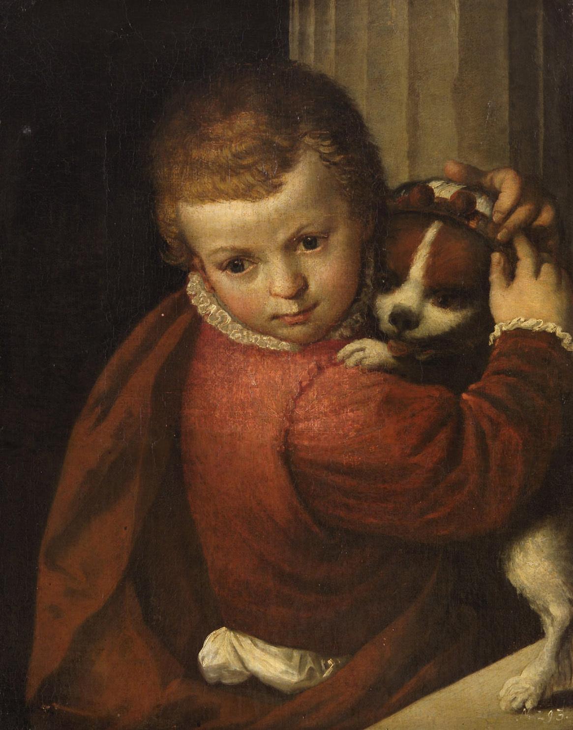 Knabe mit Hund von Paolo Caliari, gen. Veronese