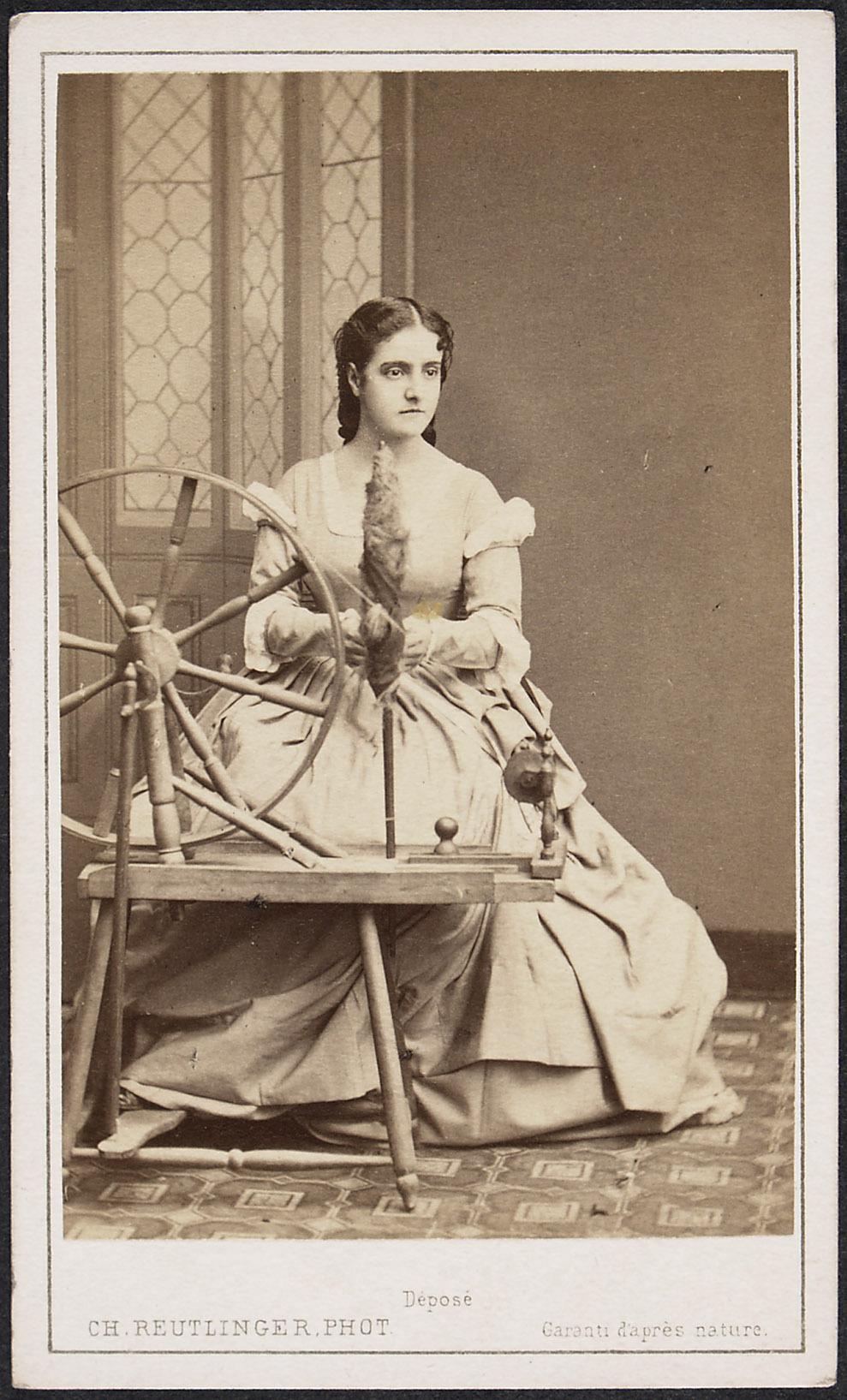 Adelina Patti von Reutlinger, Paris