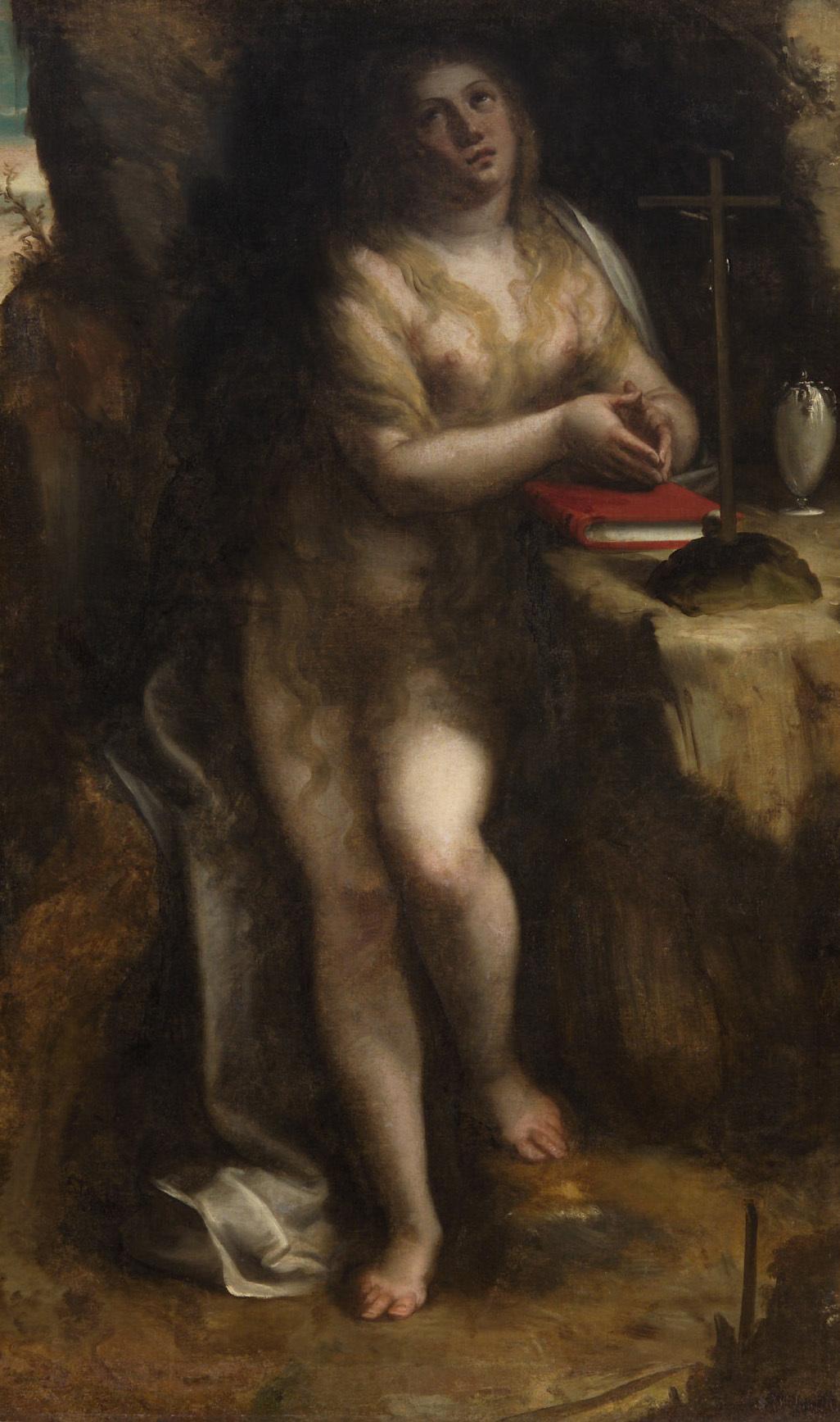 Büßende Maria Magdalena von Luca Cambiaso