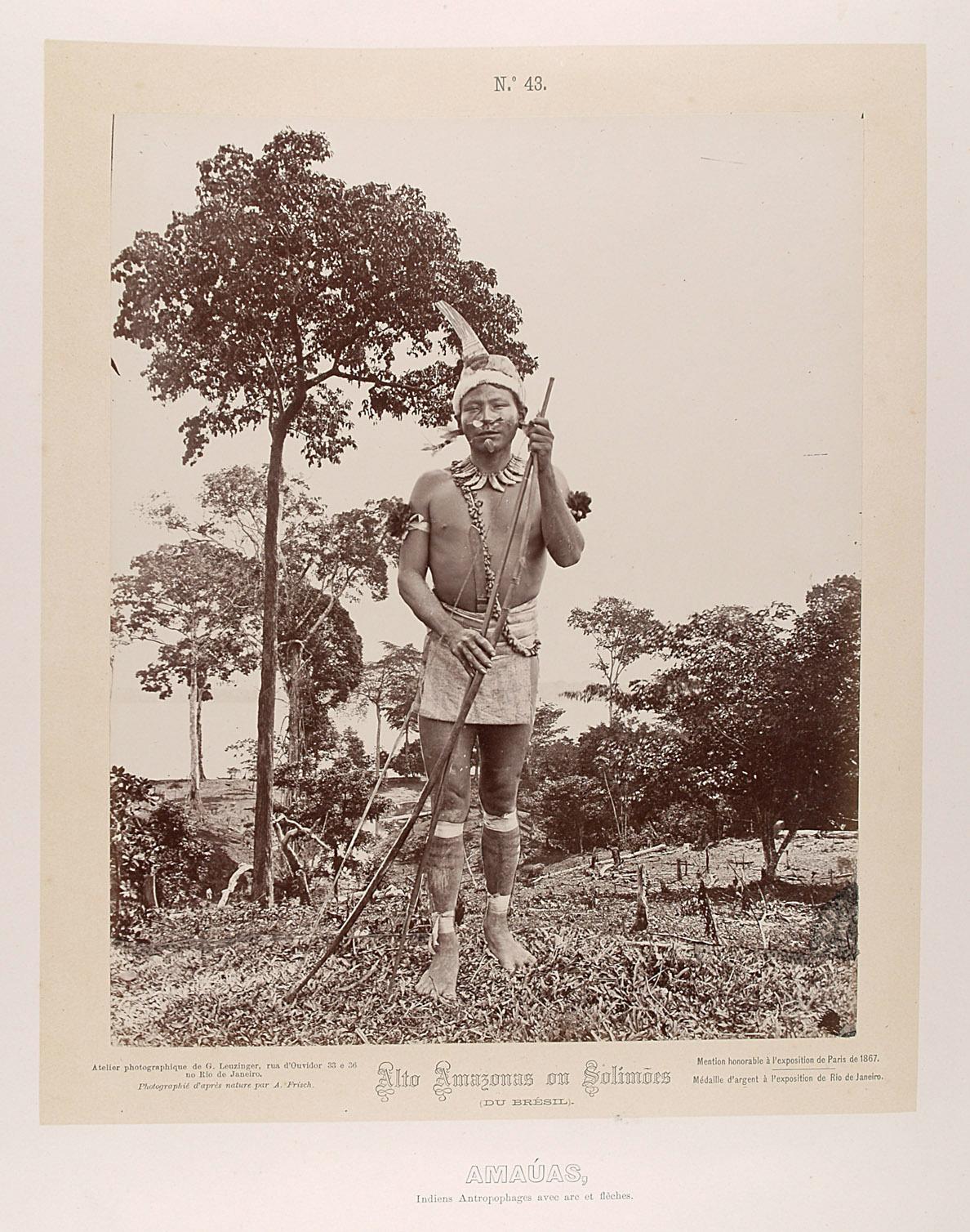 Indianer mit Pfeil und Bogen von Albert Frisch