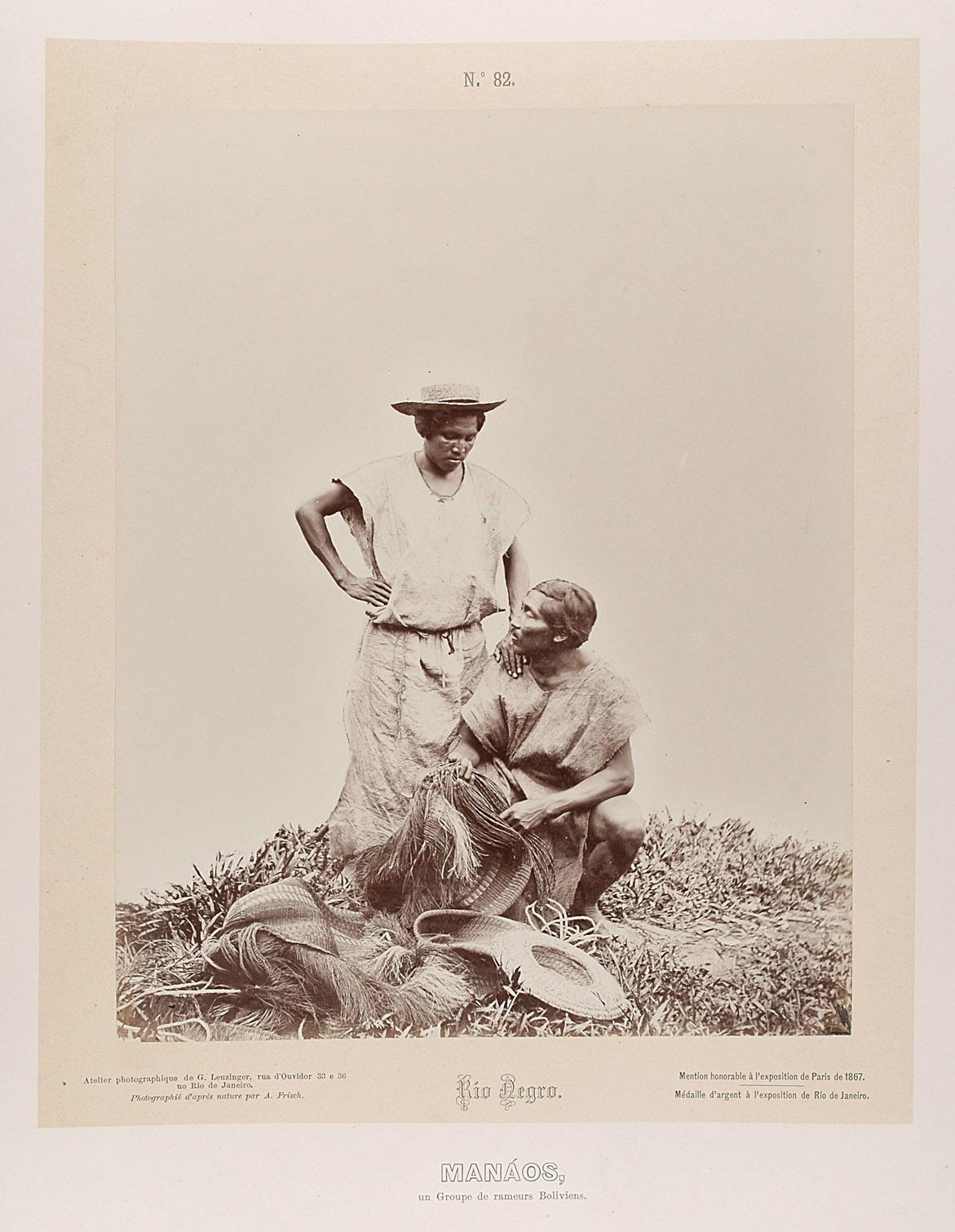 Zwei bolivianische Indianer von Albert Frisch