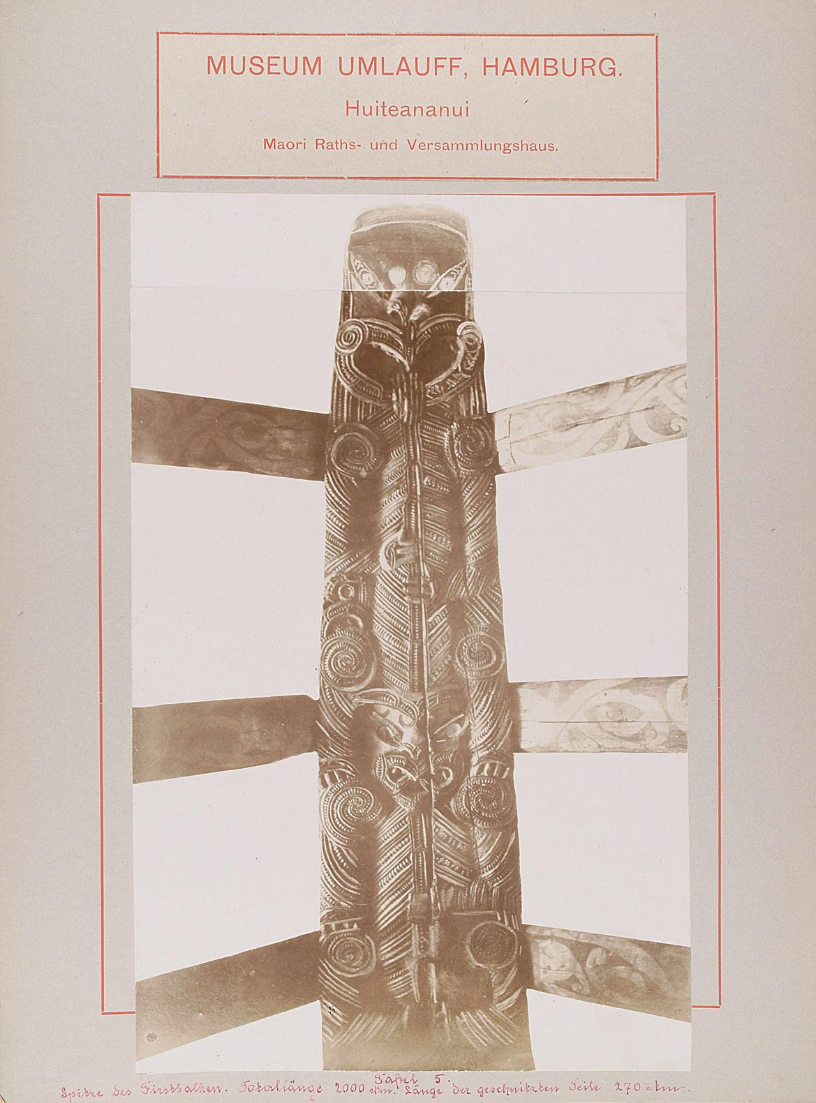 Museum Umlauff, Hamburg. Huiteananui, Maori Raths- und Versammlungshaus von anonym