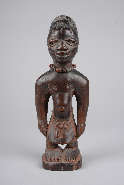 Männliche Ibeji Zwillingsfigur