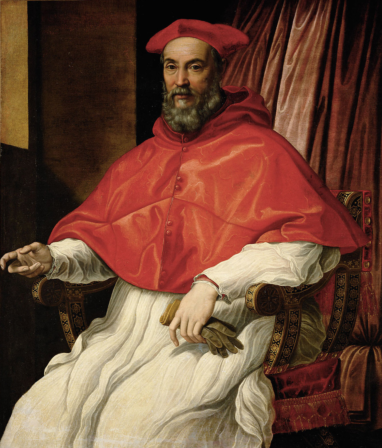 Bildnis eines Kardinals von Jacopino del Conte