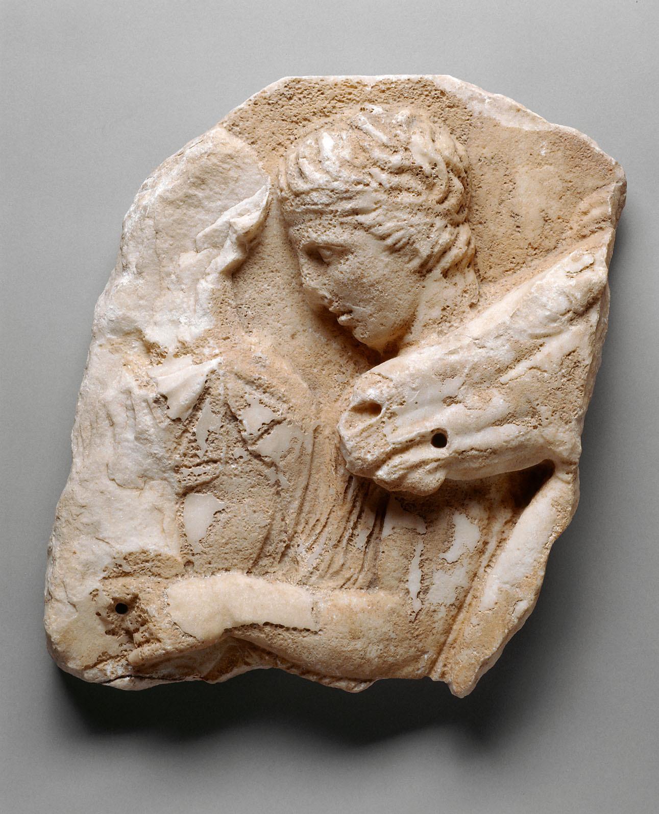Fragment vom Nordfries des Parthenon, Reiter