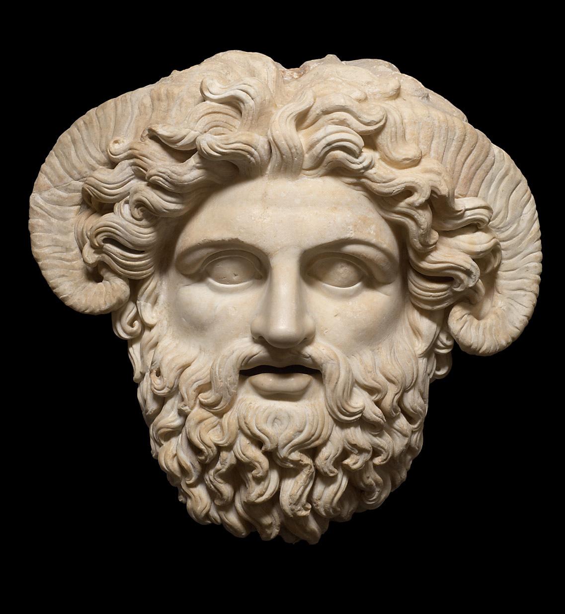 Maske: Zeus Ammon