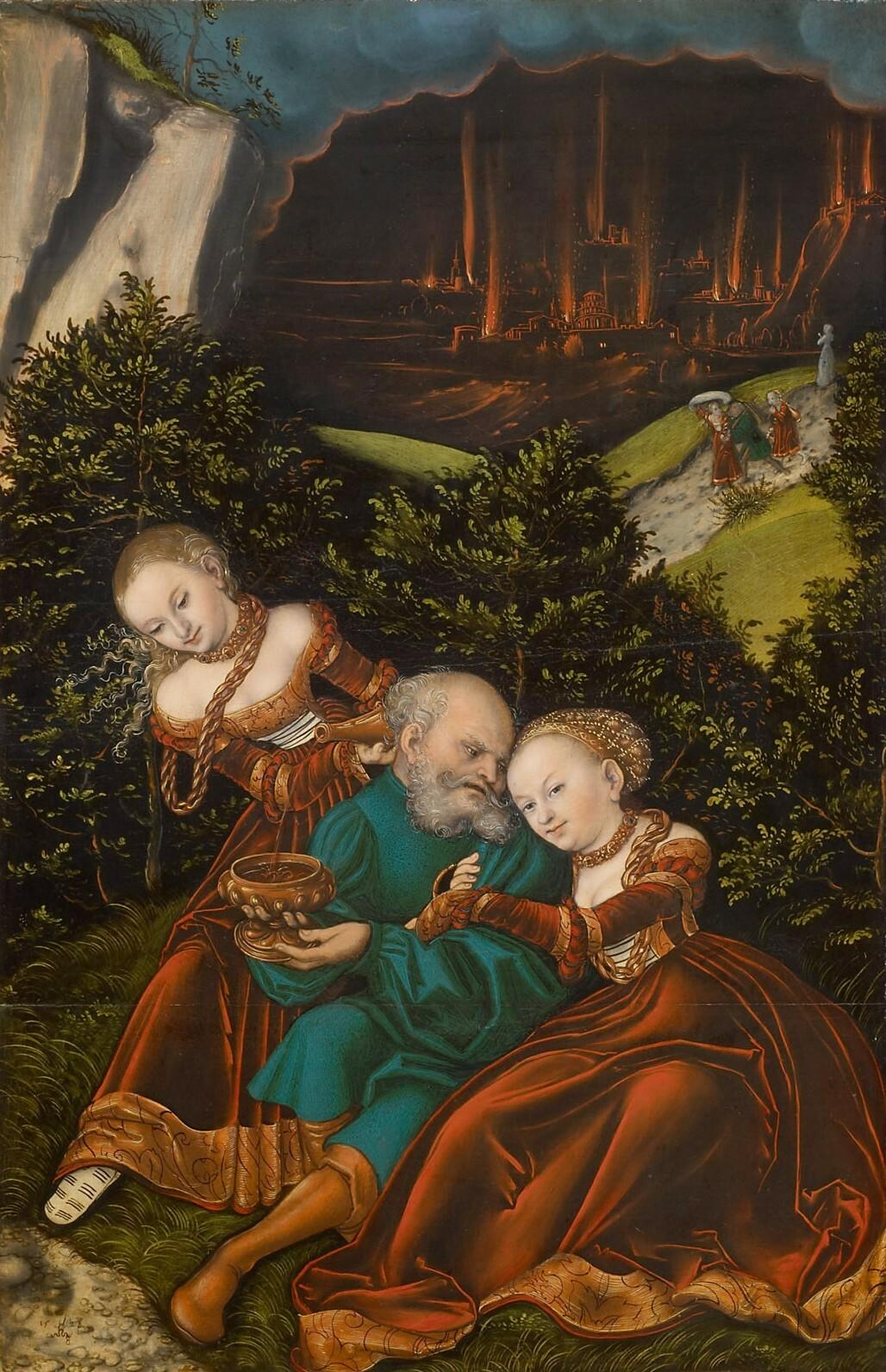 Lot und seine Töchter von Lucas Cranach d. Ä.
