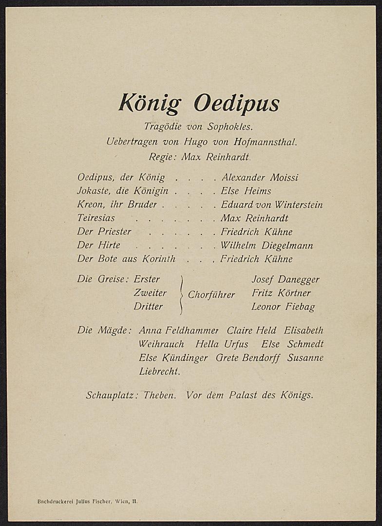 König Oedipus von Sophokles