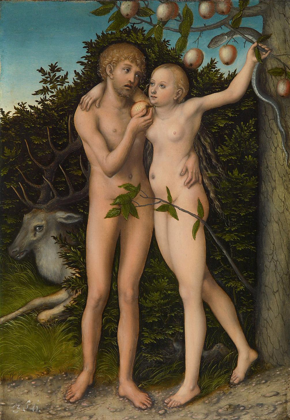 Sündenfall von Lucas Cranach d. Ä.
