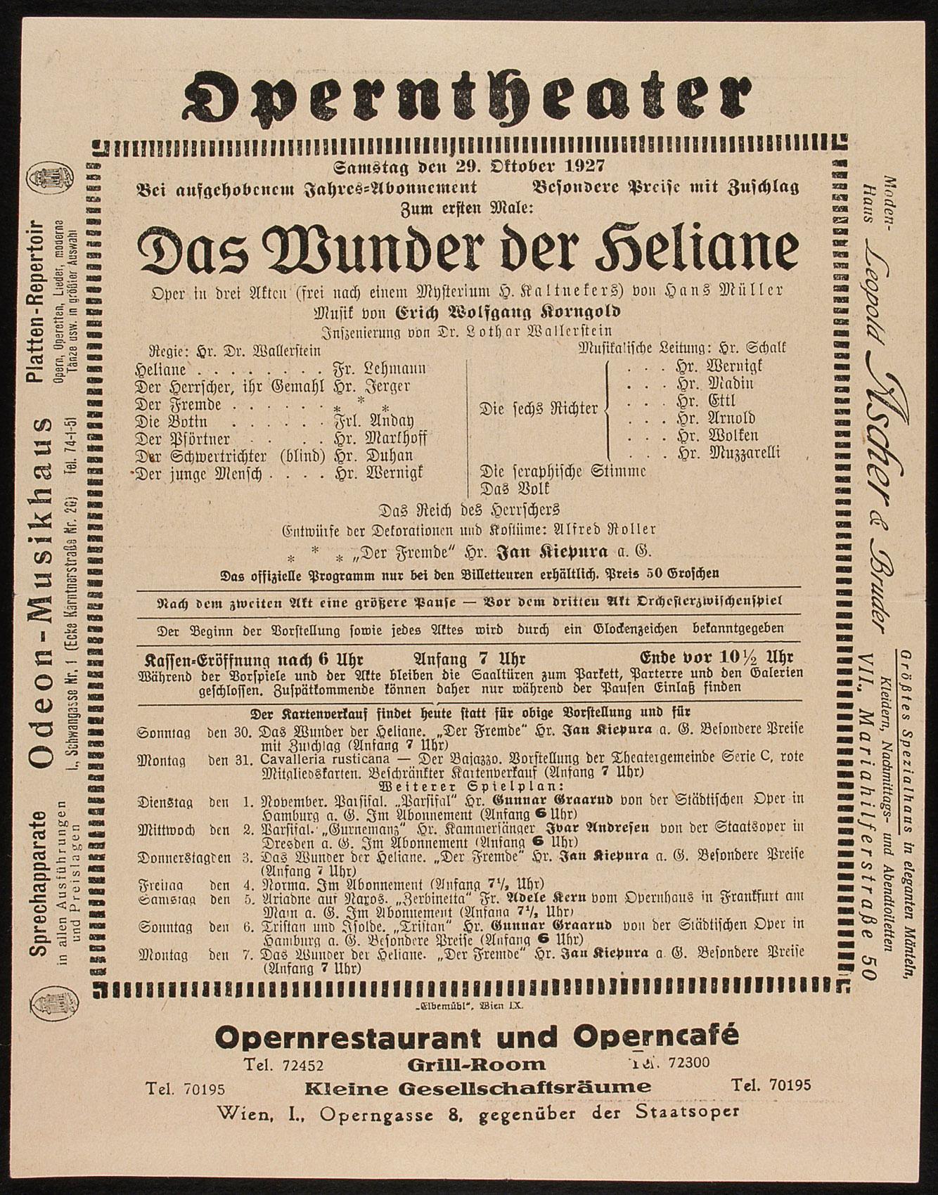 Das Wunder der Heliane von Erich Wolfgang Korngold
