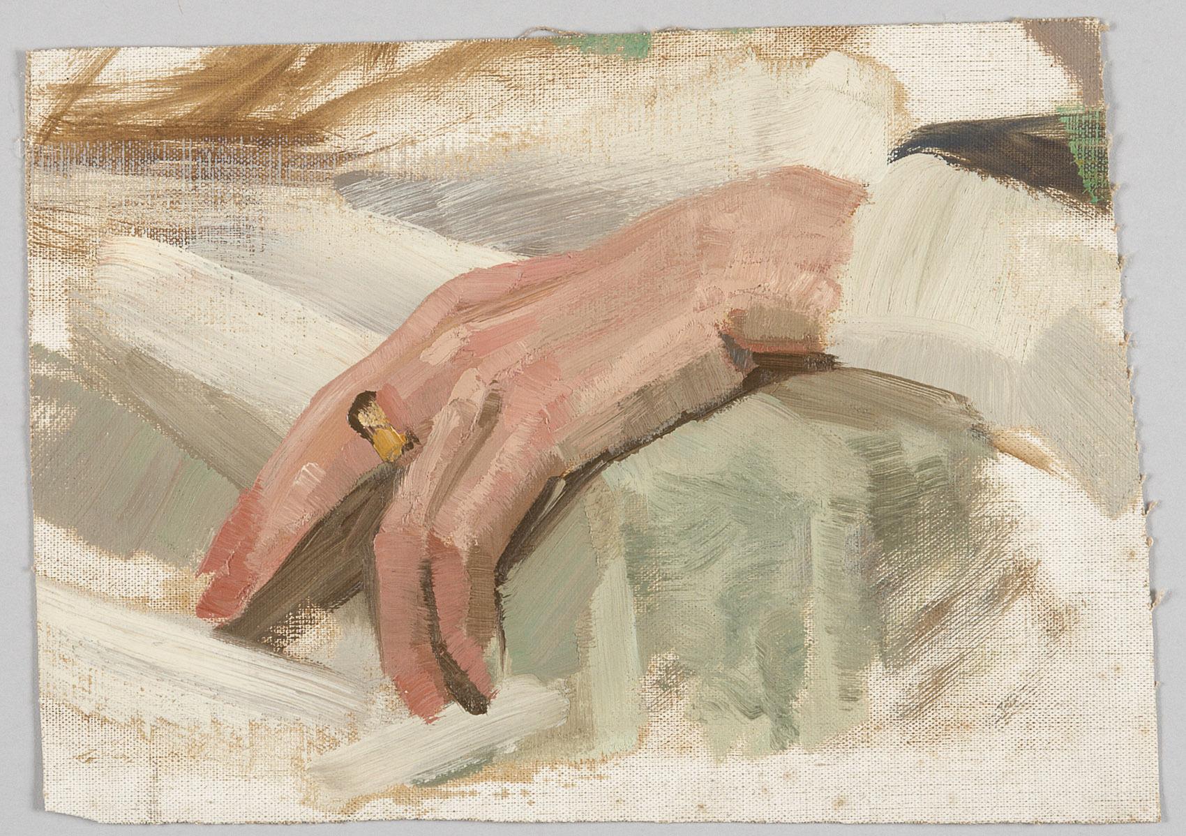 Studie einer linken Hand von Alfred Roller