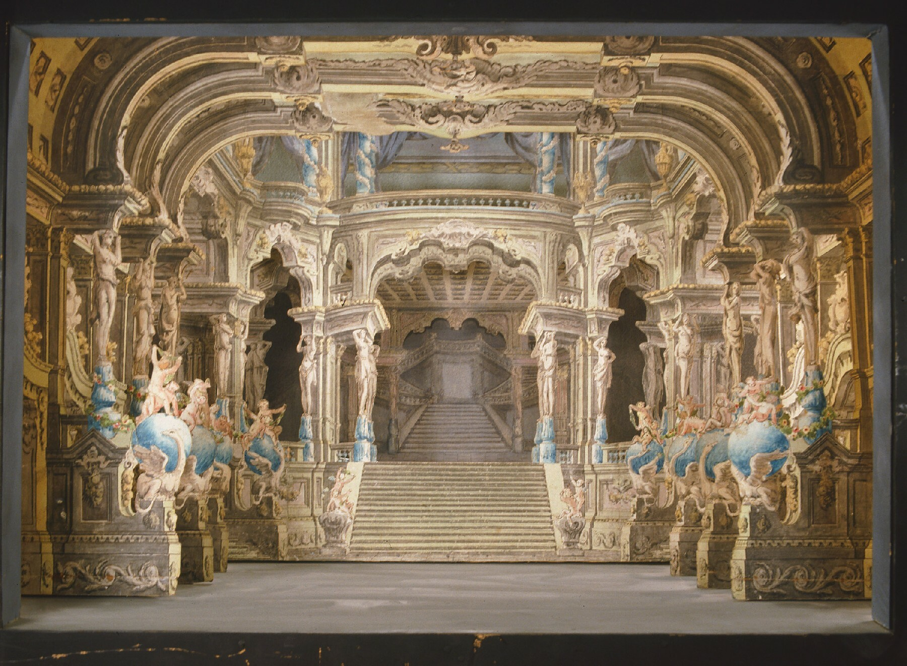 Modell zu einer Palasthalle mit anschließender Prunktreppe von Lorenzo Sacchetti