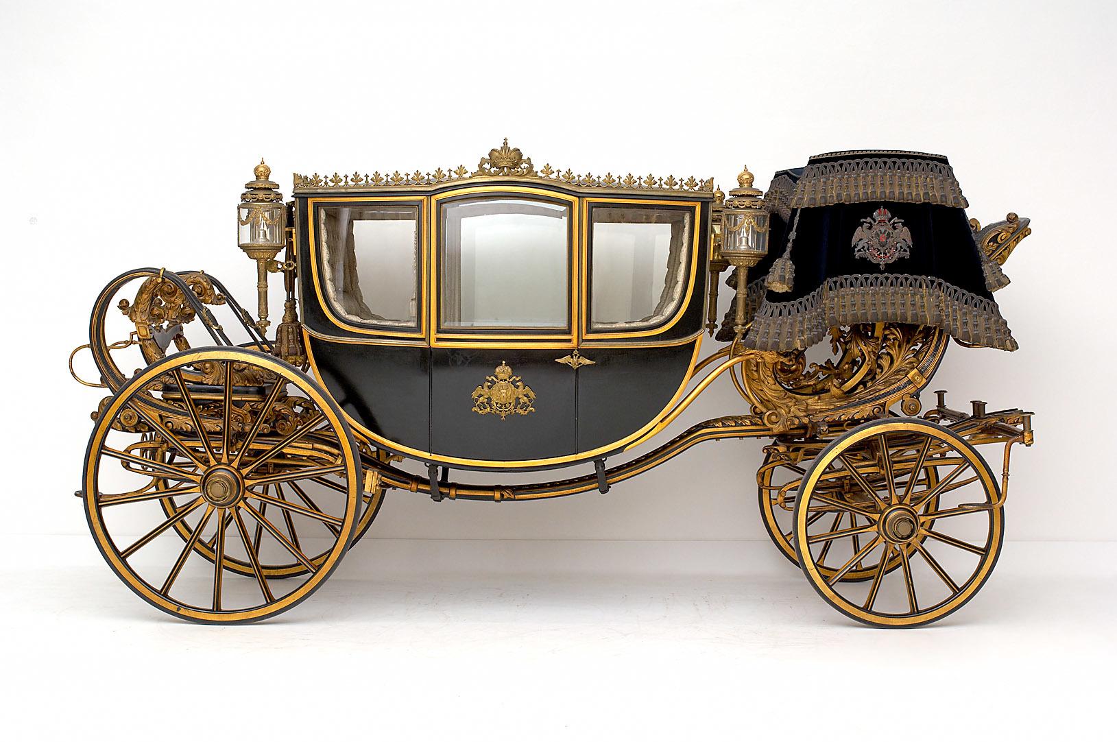 Reicher viersitziger Gala-Staatswagen von Carl Marius