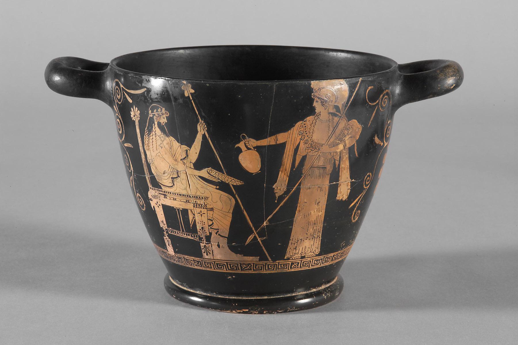 Thronender Zeus und Athena