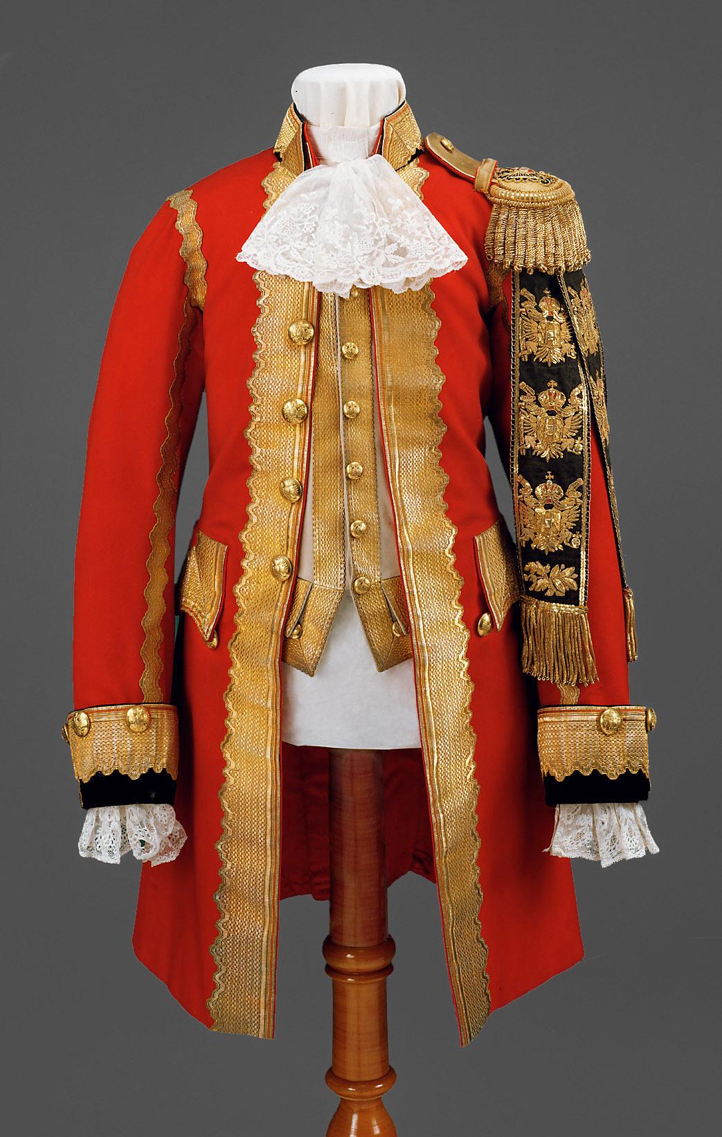 Hof-Uniform eines k. k. Edelknaben von Anton Uzel & Sohn