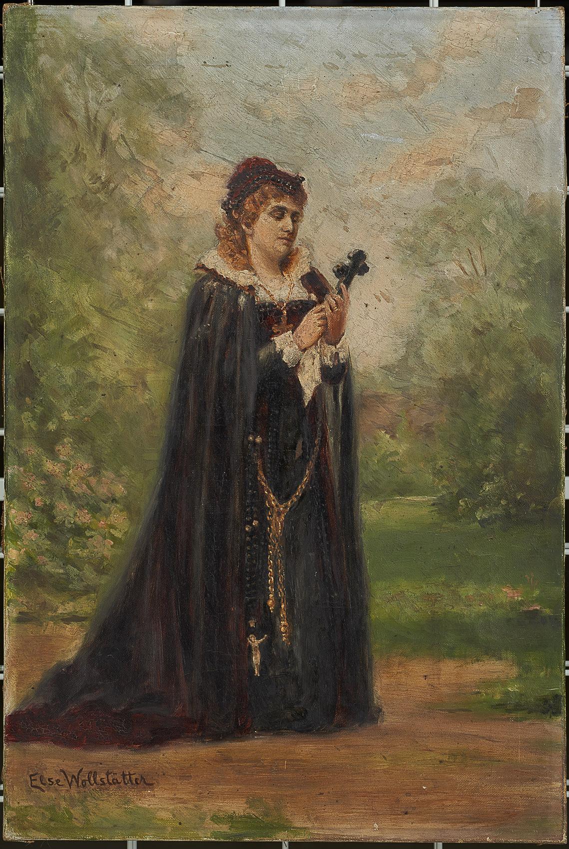 Charlotte Wolter als Maria Stuart von Else Wolstädter