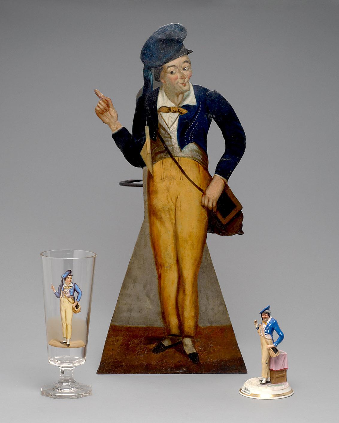 """Schirmständer: Johann Nestroy (1801-1862) als """"Willibald"""""""