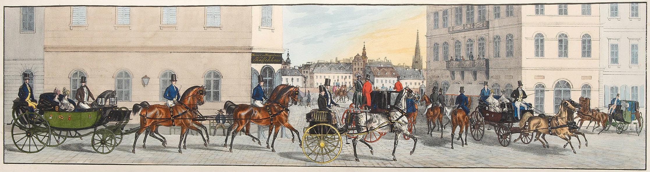 """""""Rückfahrt aus dem Prater"""", Blatt 16 von Alexander von Bensa d. Ä."""