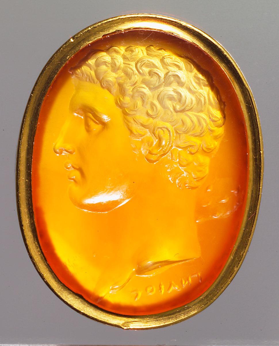 Kopf des jungen Herkules