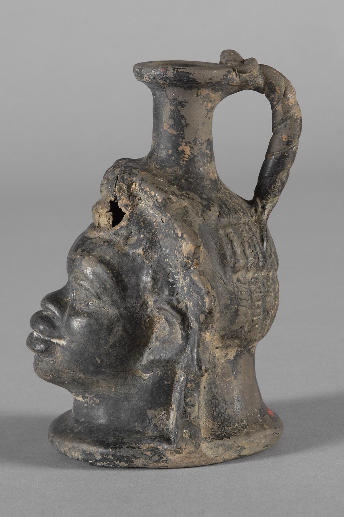 Gefäß in Form des Kopfes eines Schwarzafrikaners