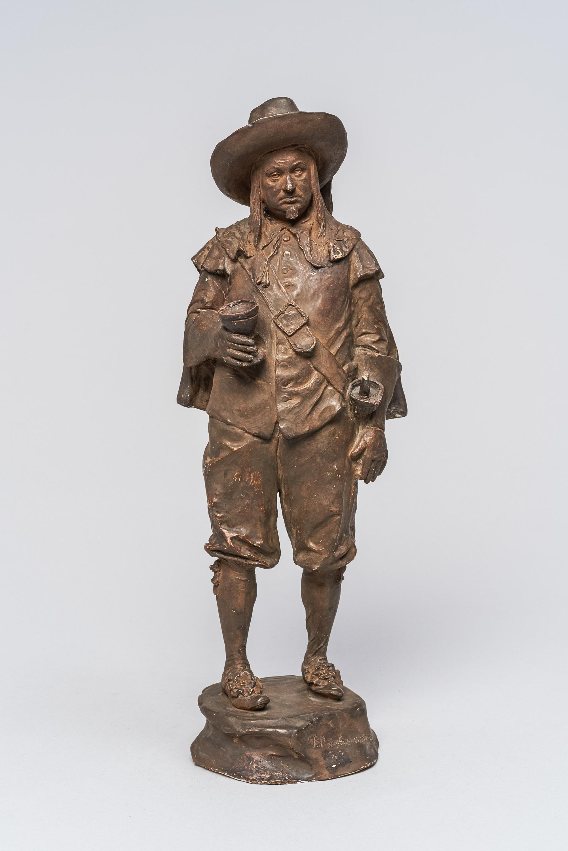 Statuette; H. Thimig als Bleichenwang von Hugo Thimig