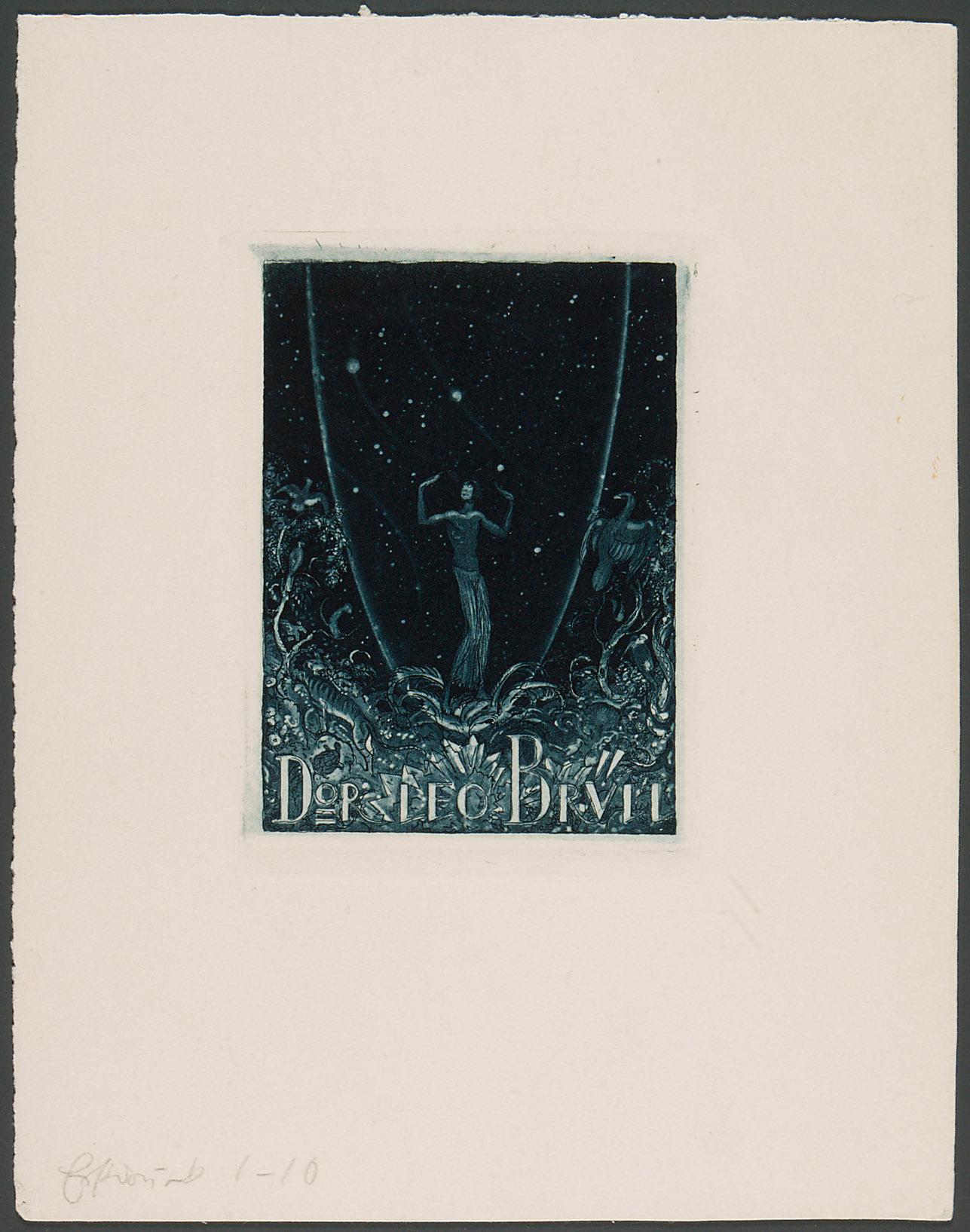 Exlibris Leo Brüll von Richard Teschner