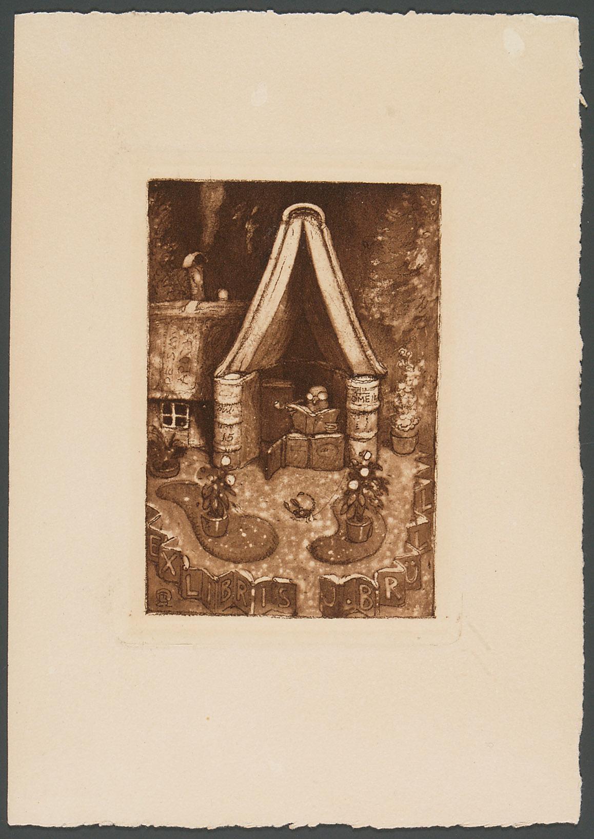Exlibris Julius Brüll von Richard Teschner