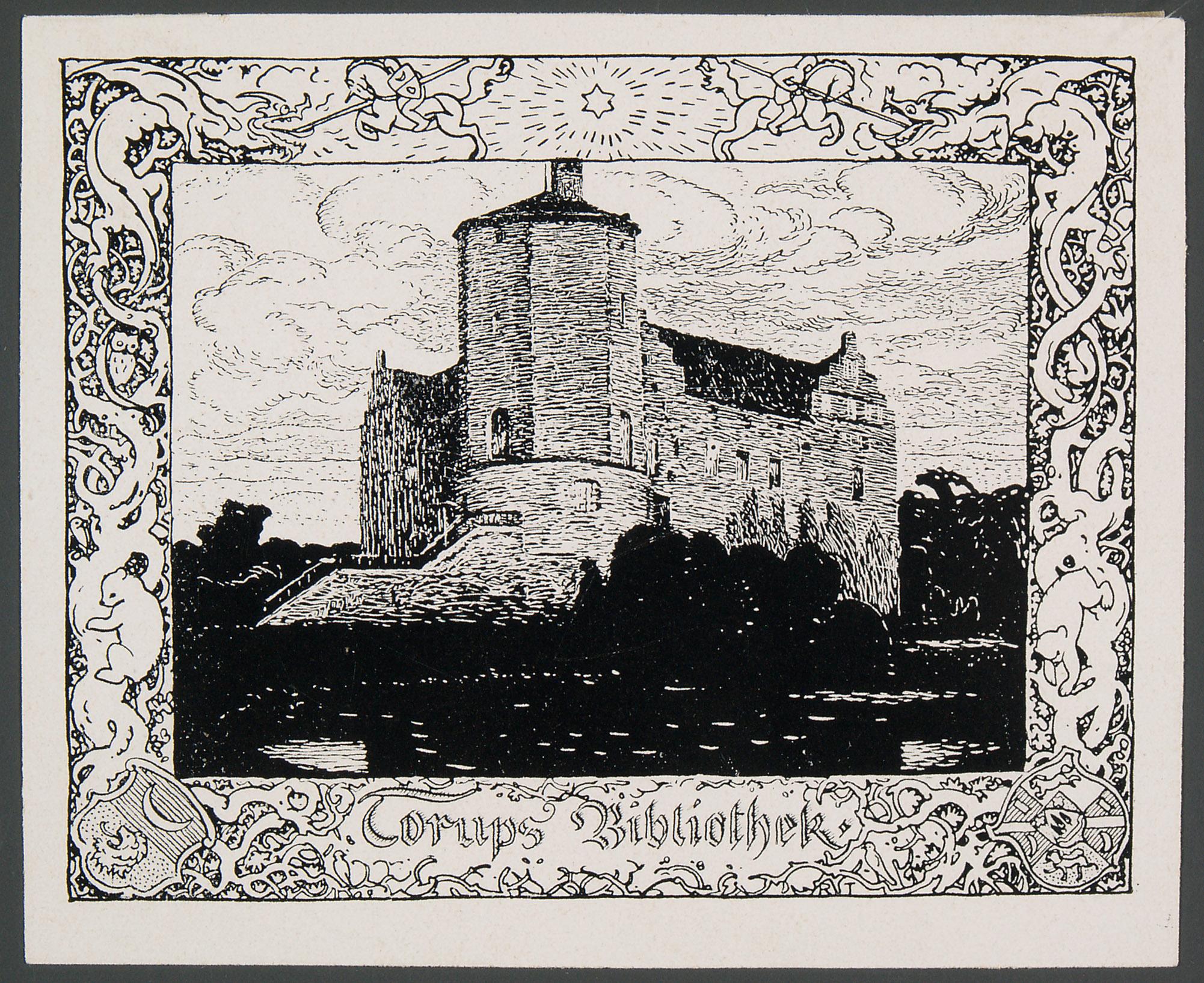 Exlibris Torups Bibliothek von Richard Teschner