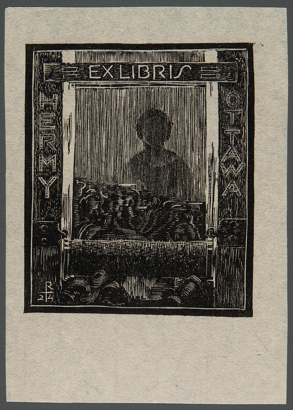 Exlibris Hermine Ottawa von Richard Teschner