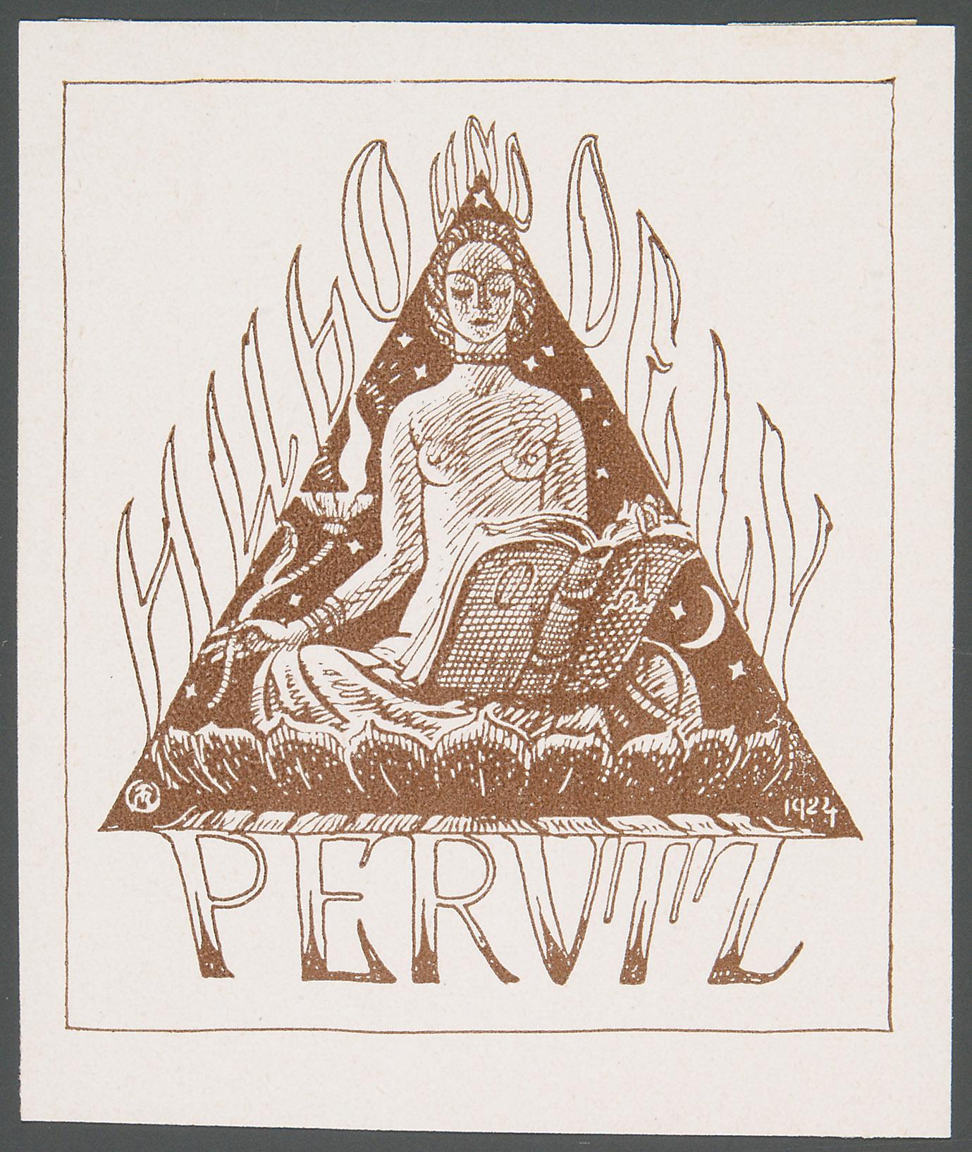 Exlibris Hugo Perutz und Adele Perutz von Richard Teschner