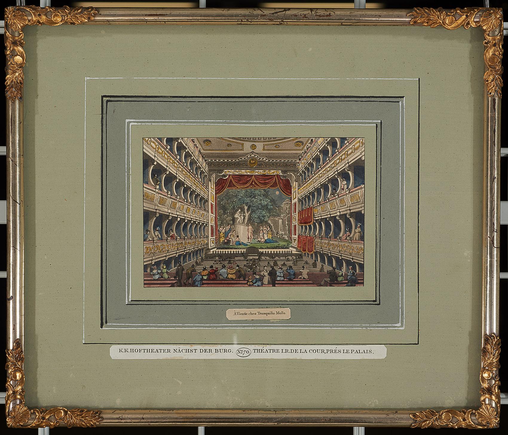 K.K. Hoftheater nächst der Burg von Altes Burgtheater