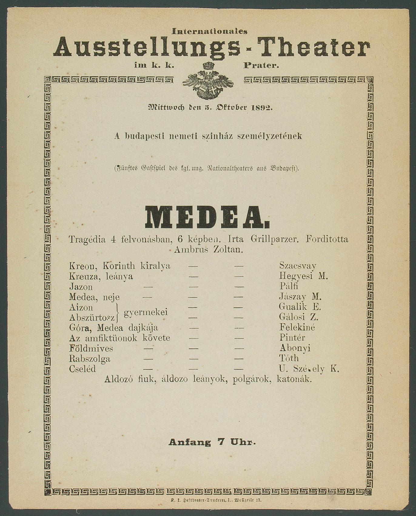Medea von Franz Grillparzer