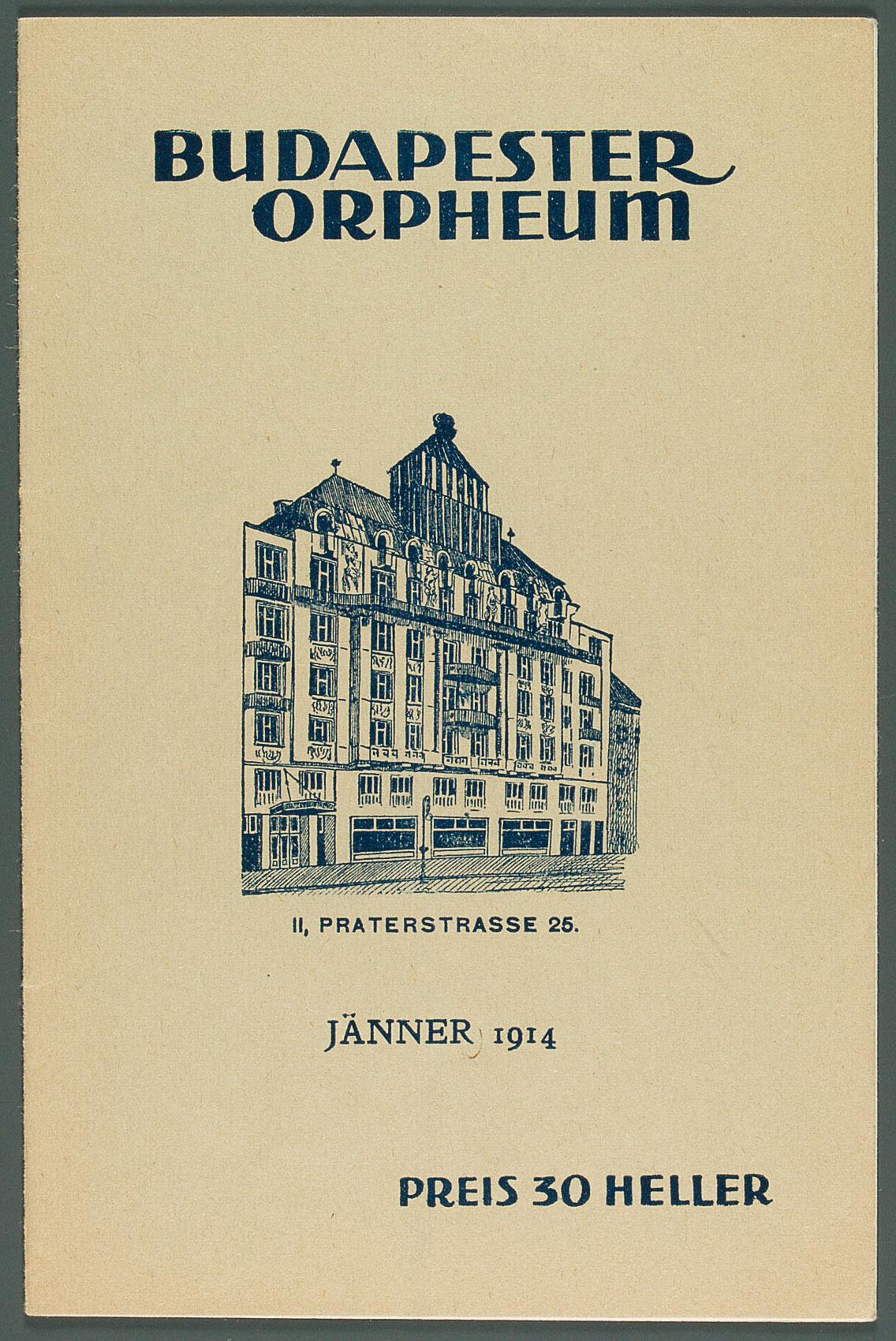 Budapester Orpheum von Josef Armin