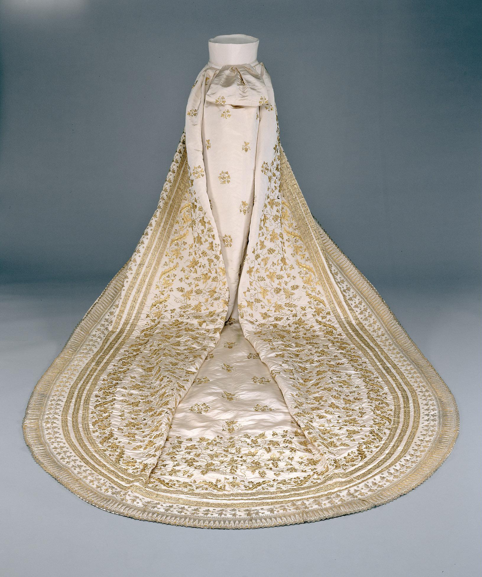 Hochzeitsschleppe der Kaiserin Elisabeth von Sisi