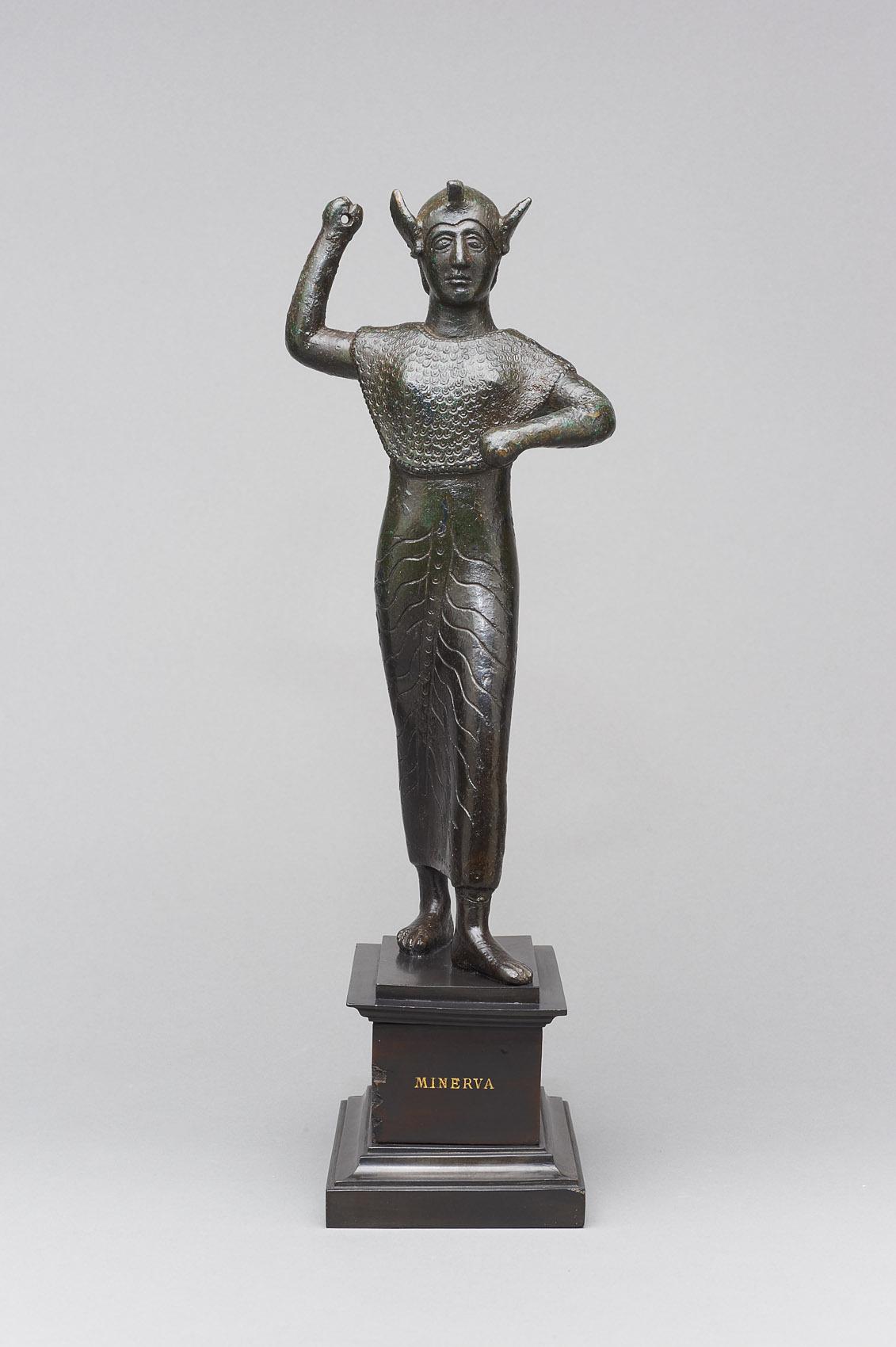 Angreifende Athena (etruskisch: Menerva)