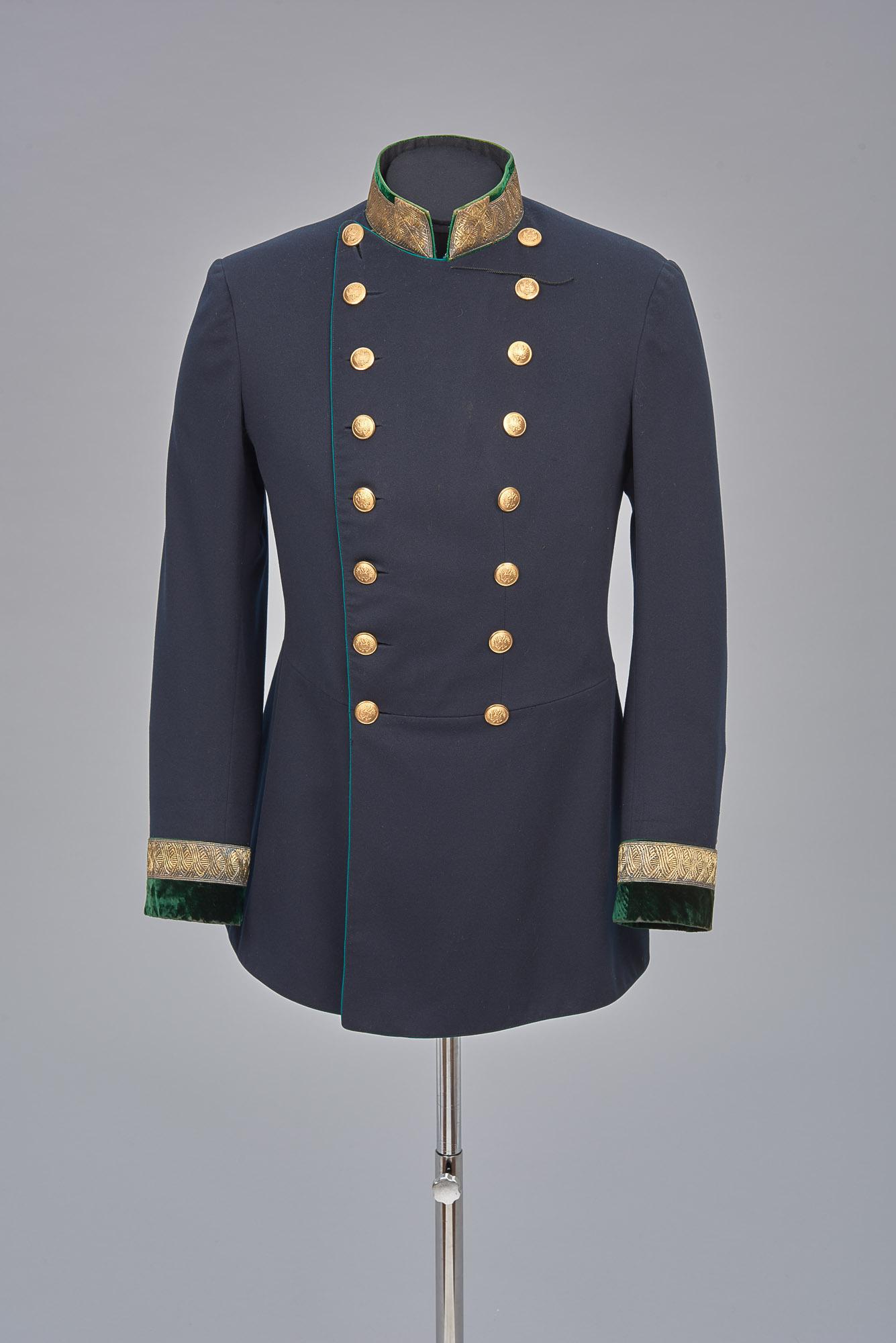Waffenrock von der Gala-Uniform eines Beamten im k. k. Finanzministerium von Josef Zimbler
