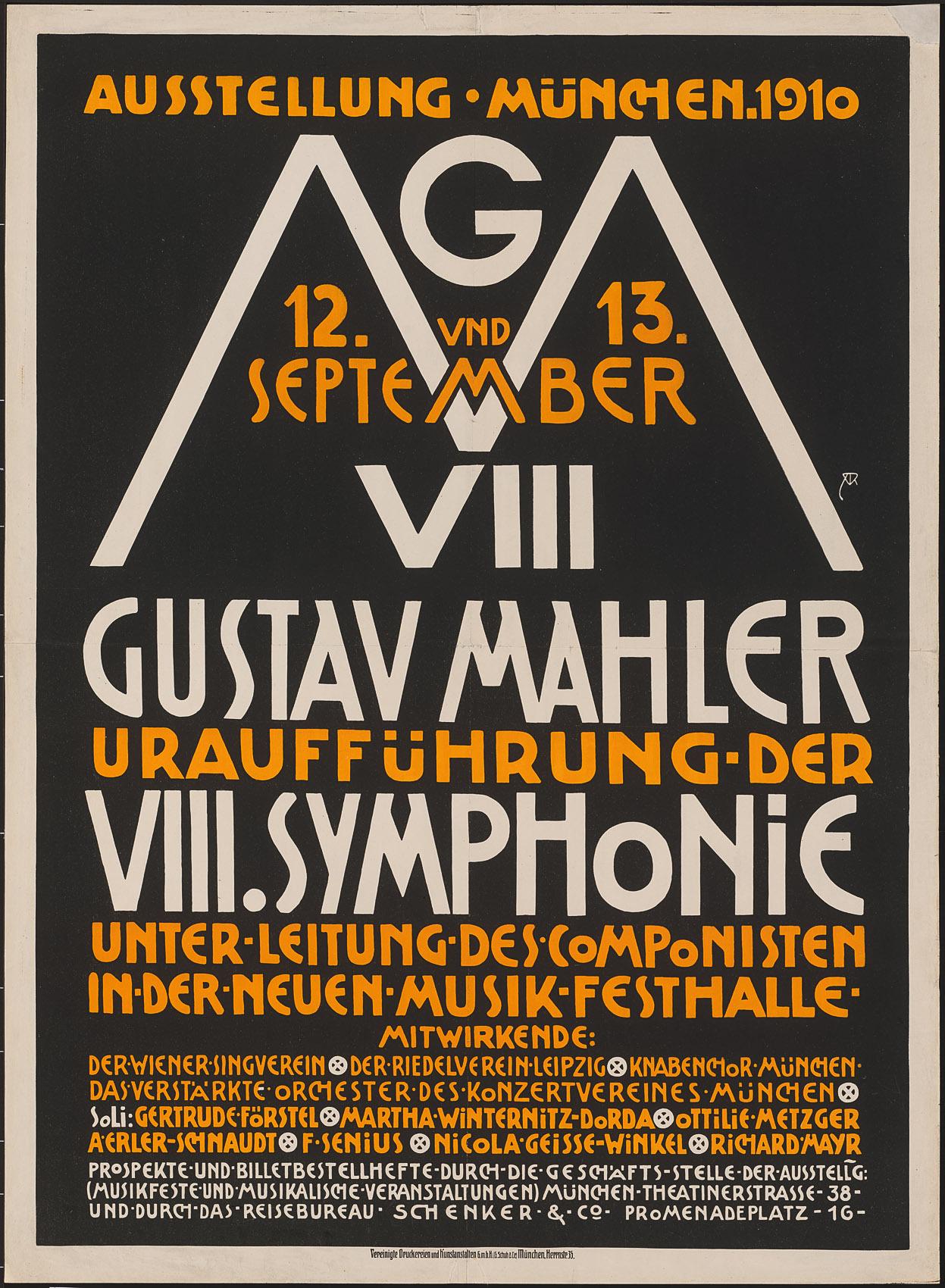 Gustav Mahler Uraufführung der VIII.Symphonie von Alfred Roller