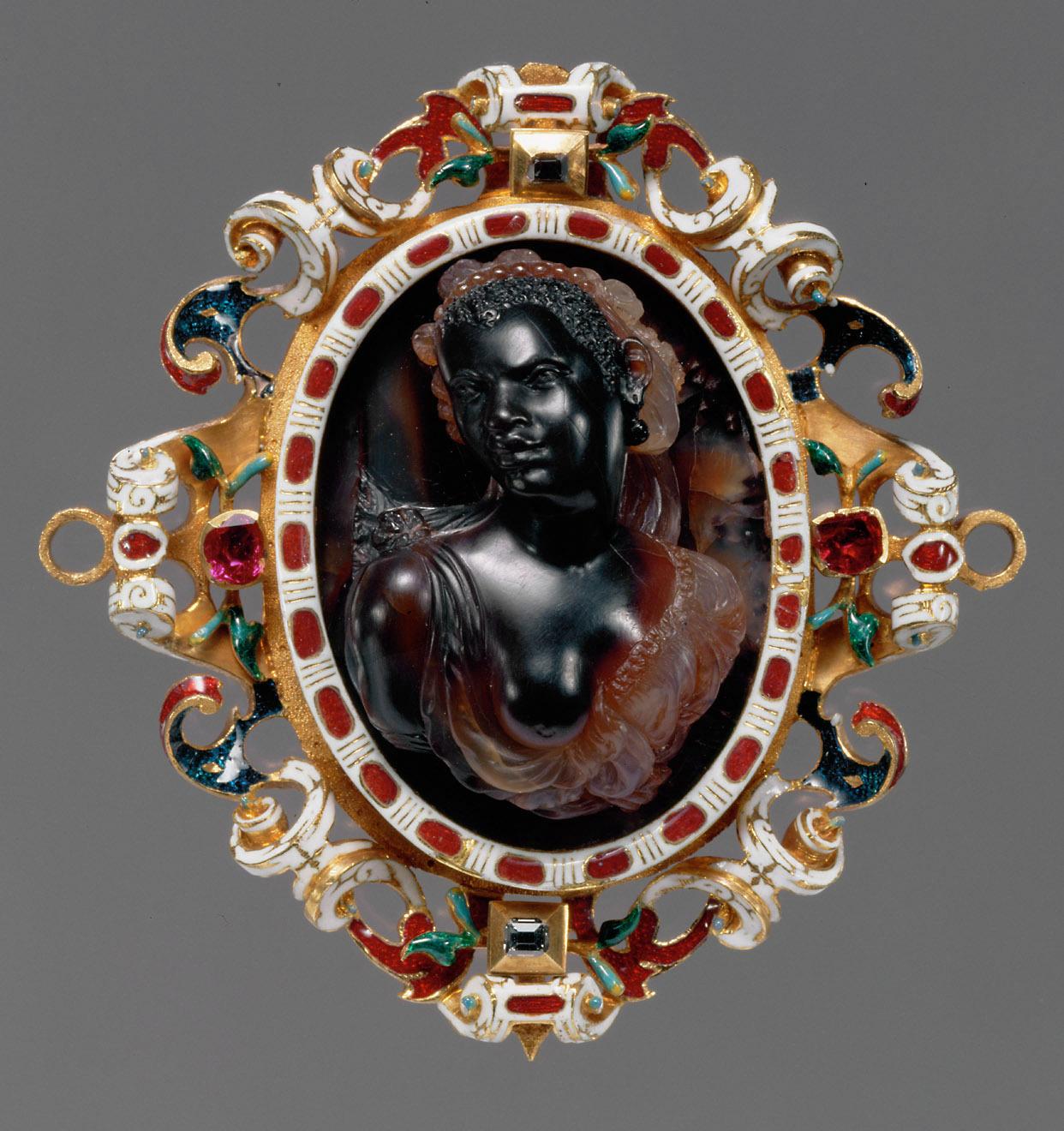 Brustbild einer Afrikanerin von Girolamo Miseroni