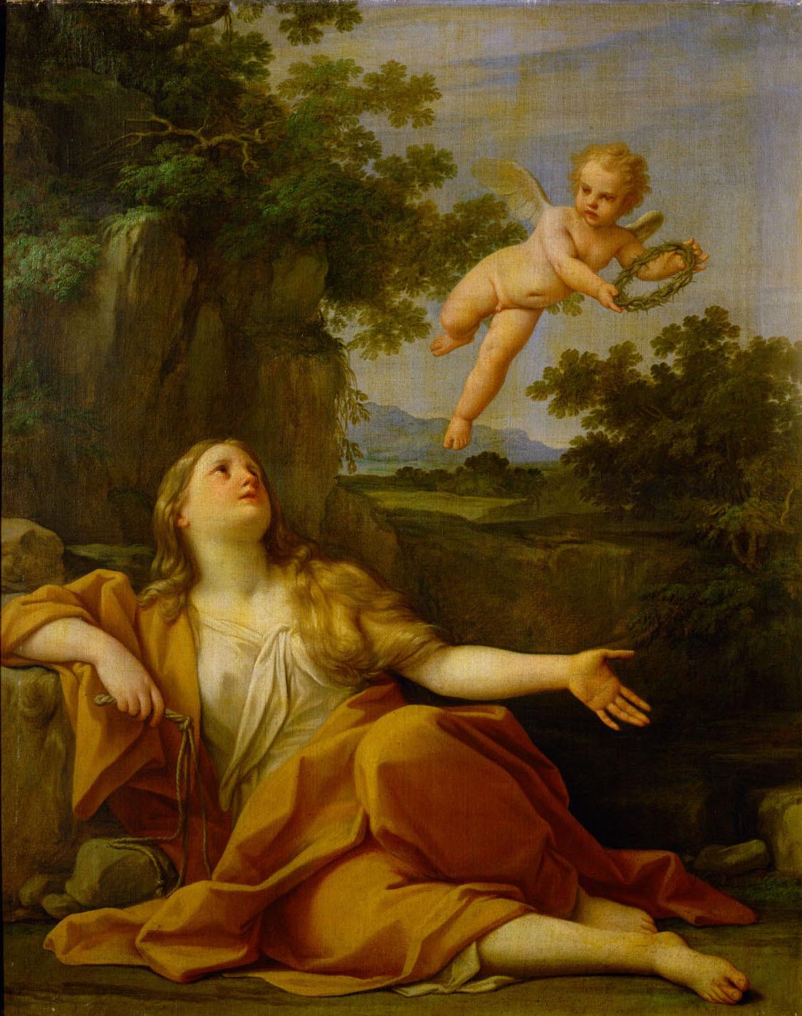 Büßende Maria Magdalena von Marcantonio Franceschini