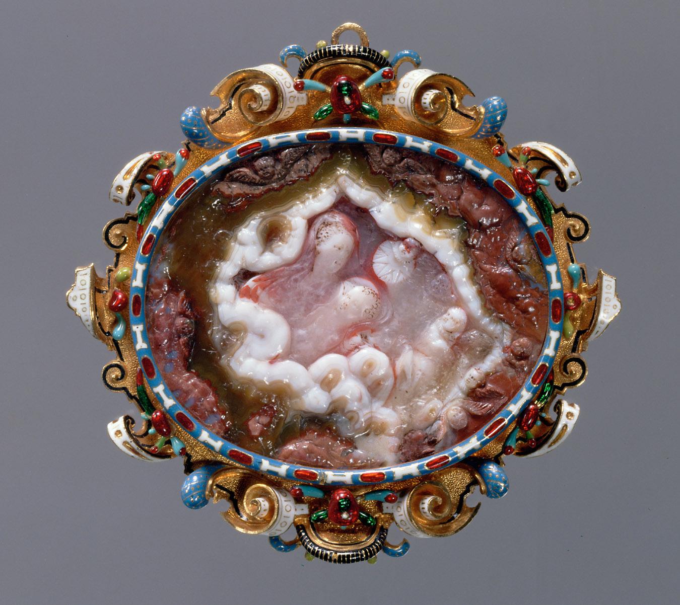 Madonna mit Kind in den Wolken von Alessandro Masnago