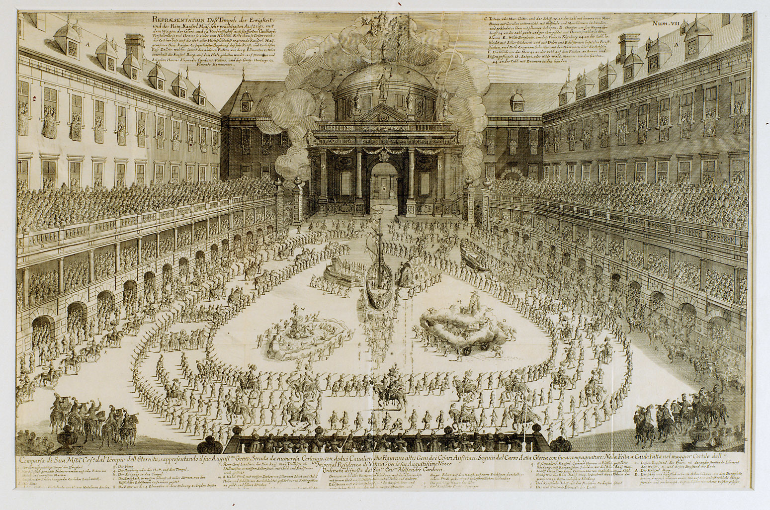 Das Rossballett in der Wiener Hofburg am 24.Jänner 1667