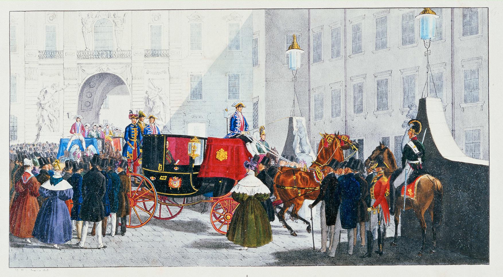 """""""Auffahrt zu Hofe"""" von Alexander von Bensa d. Ä."""
