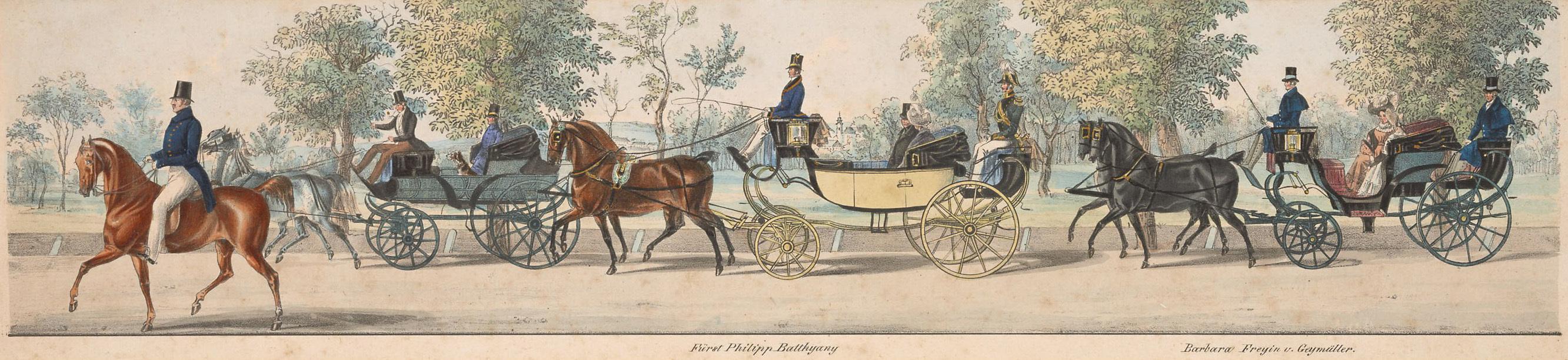 """""""Die Praterfahrt"""" von Alexander von Bensa d. Ä."""