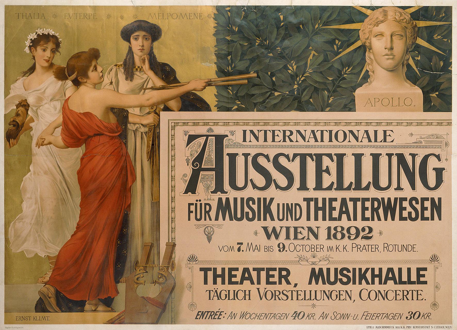 Internationale Ausstellung für Musik und Theaterwesen von Ernst Klimt