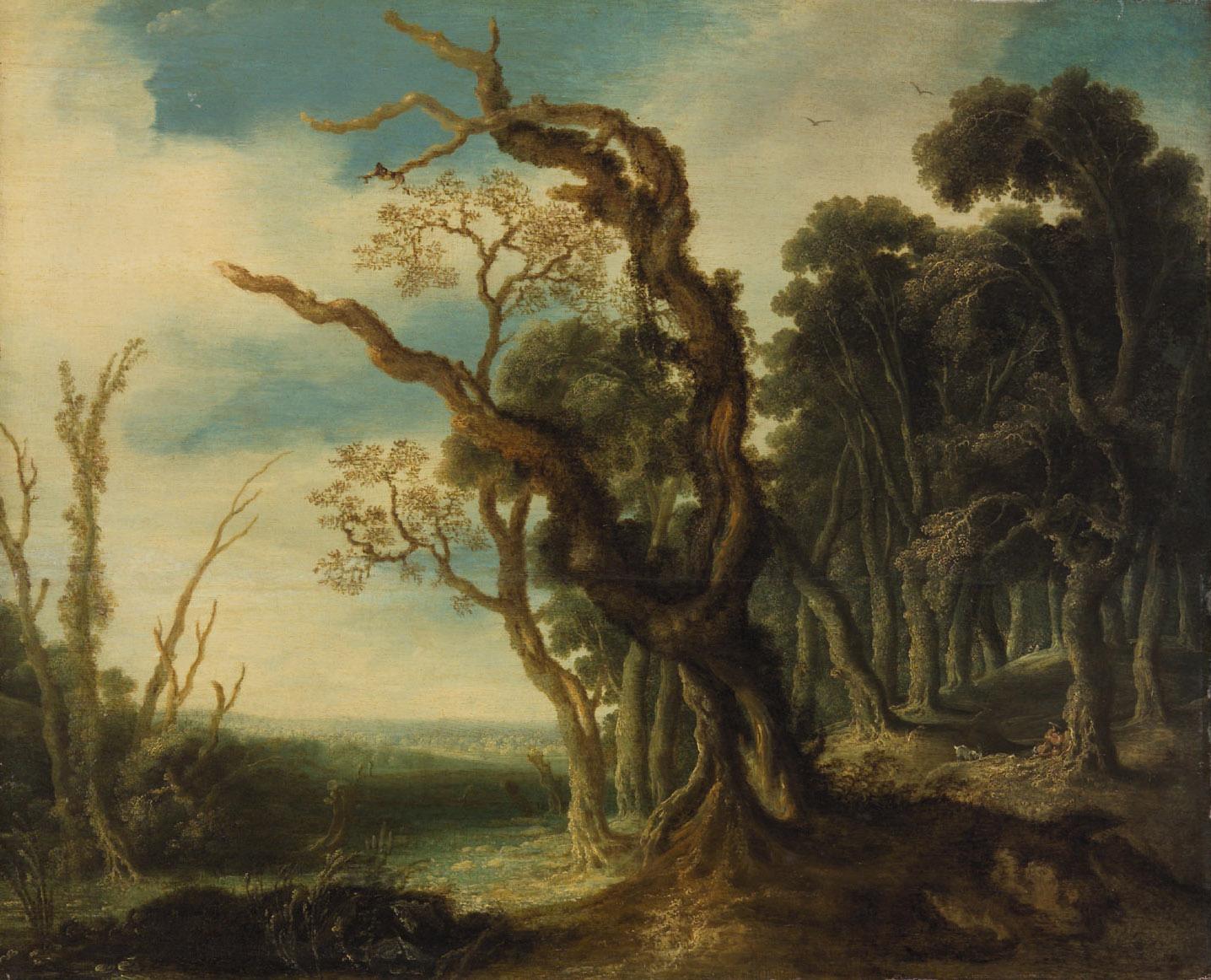 Waldlandschaft von Jacob van Geel