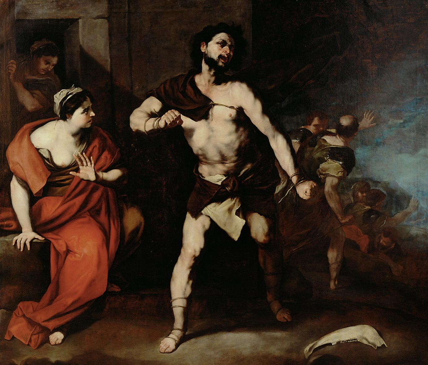 Simson zerreißt seine Fesseln von Luca Giordano